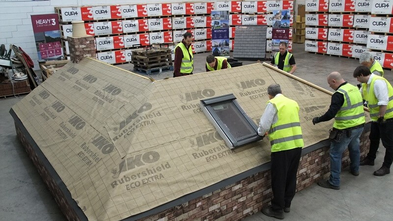 slate roofing in CUPA PIZARRAS training and CPD day in Scotland