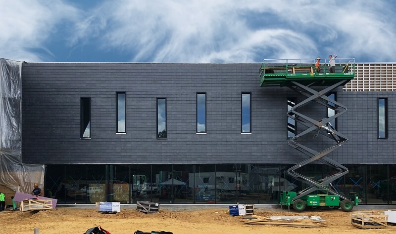 library in richmond (usa) with cupaclad rainscreen cladding system