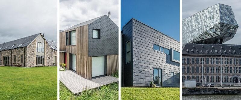 tipos de fachadas en construcción de edificios, viviendas y casas