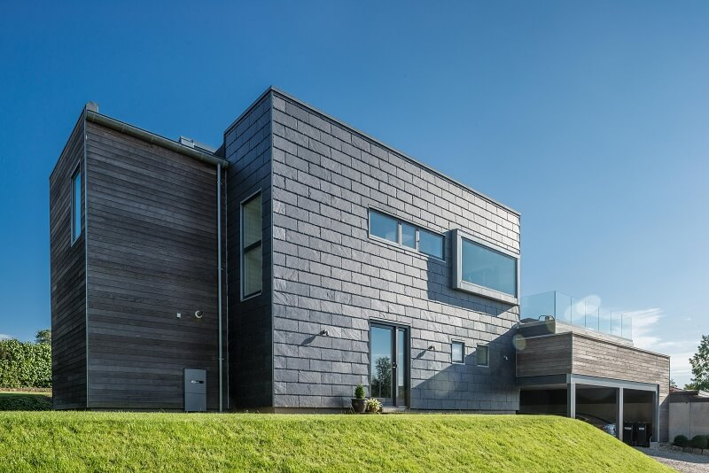 single-family house with rainscreen cladding facade