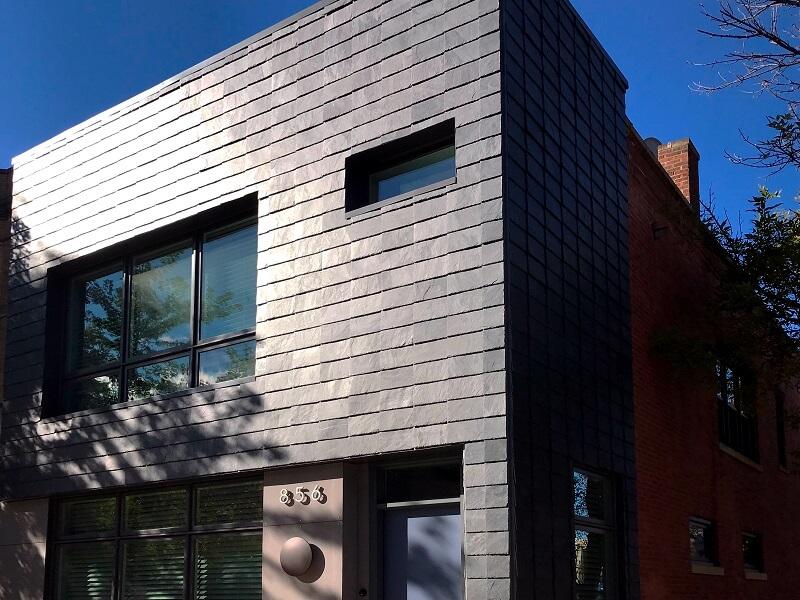rainscreen cladding in slate - Chicago (USA)