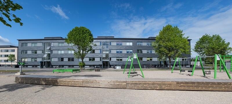 bloques de edificios de apartamentos que se encuentran en el barrio de Danmarksgade en Fredericia