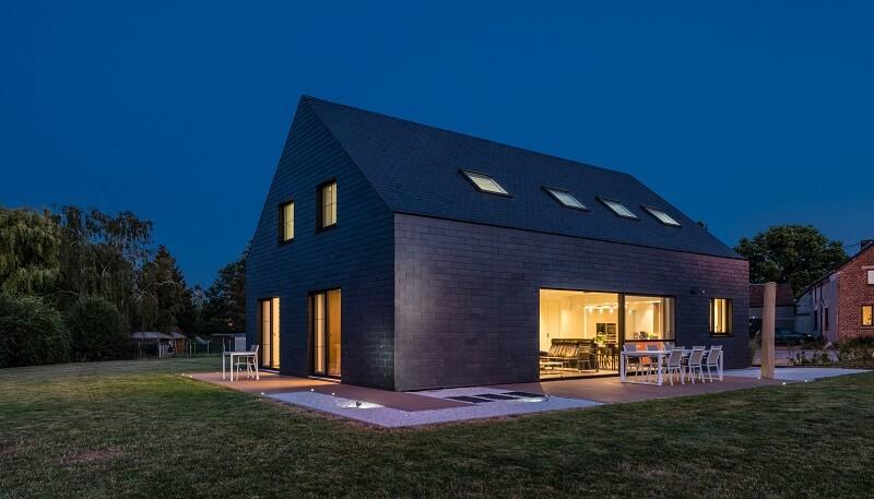 mismo material cubierta y fachada