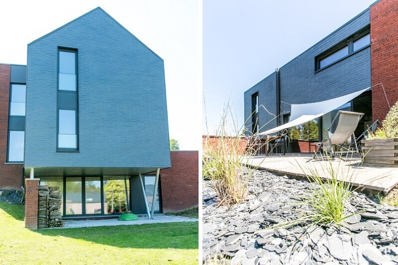 habitat durable avec ardoise