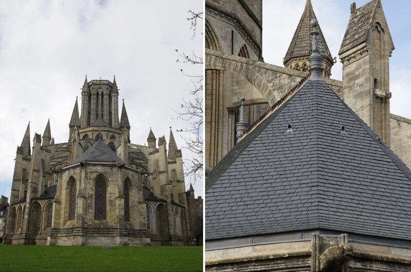 couverture en ardoise Cathedrale de Coutances