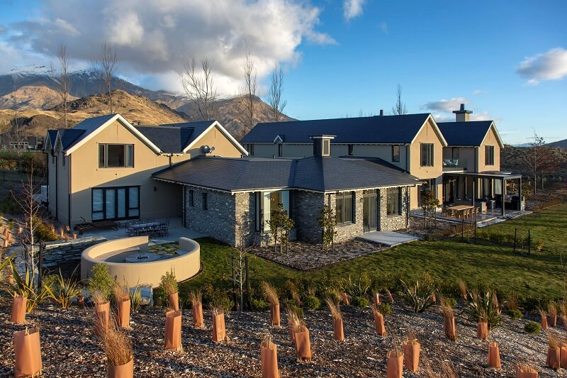 cupa 12 slate on the roof of this house in Queenstown New Zealand