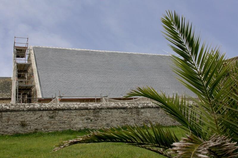 restauration citadelle toiture ardoise