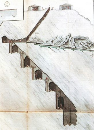 Travail dans une culée de Rimogne (1760)