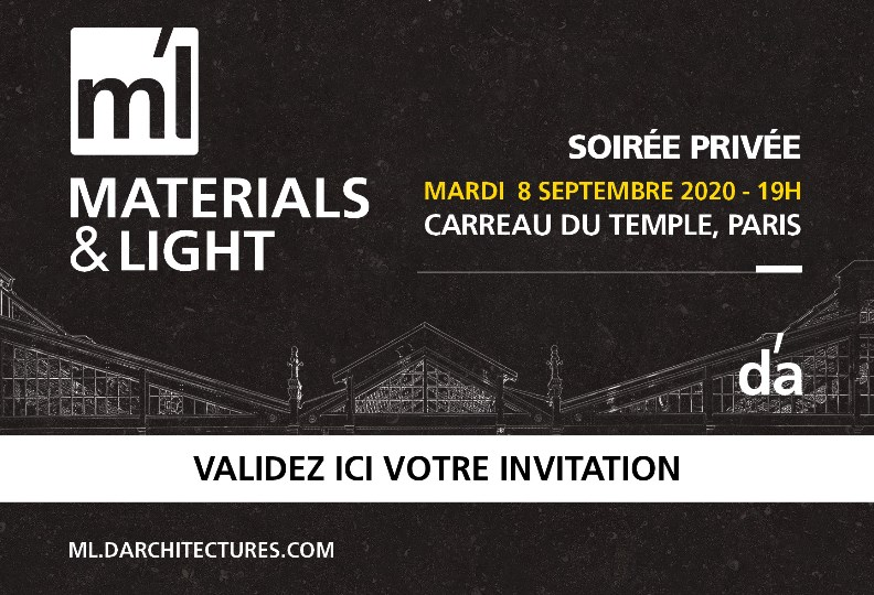material & light invitations