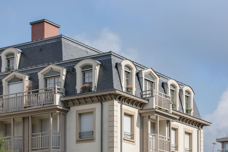 mansard windows roof