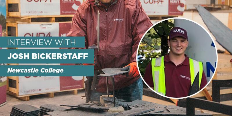 Josh Bickerstaff Winner roofing apprentice Newcastle College