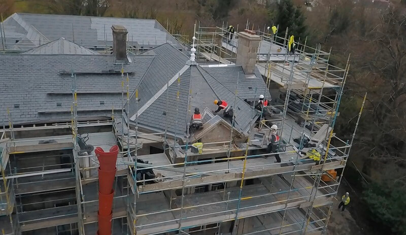 roofing slate installation