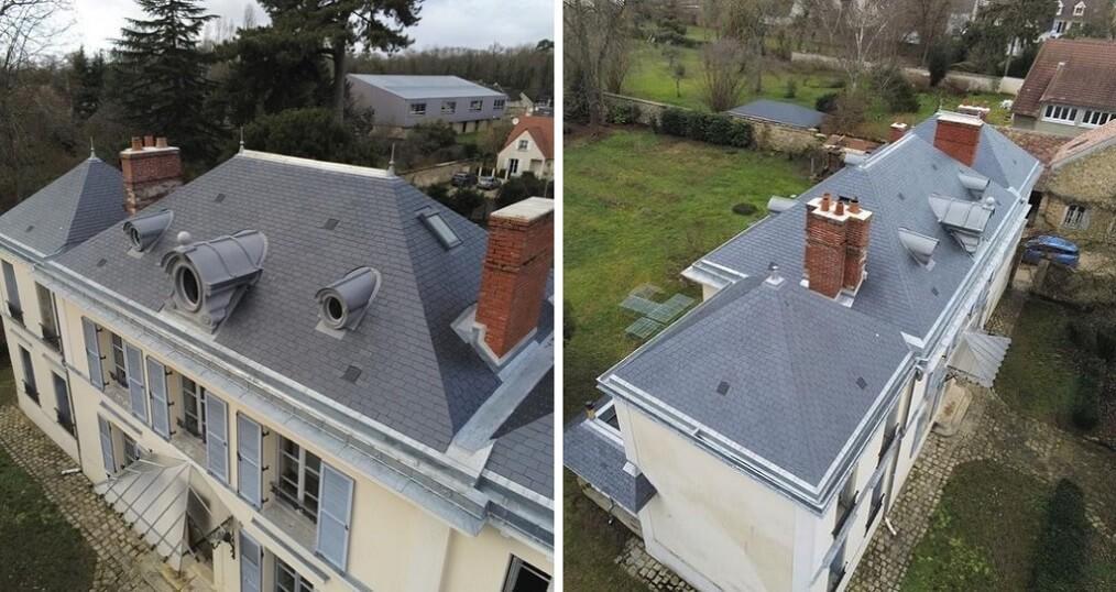maison toiture ardoise