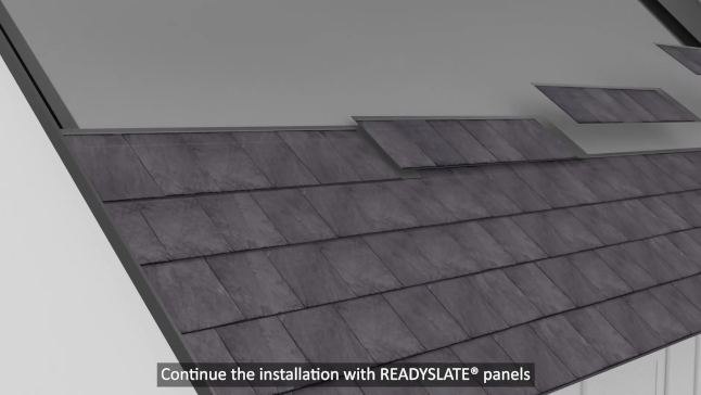 roofing system readyslate 3d installation