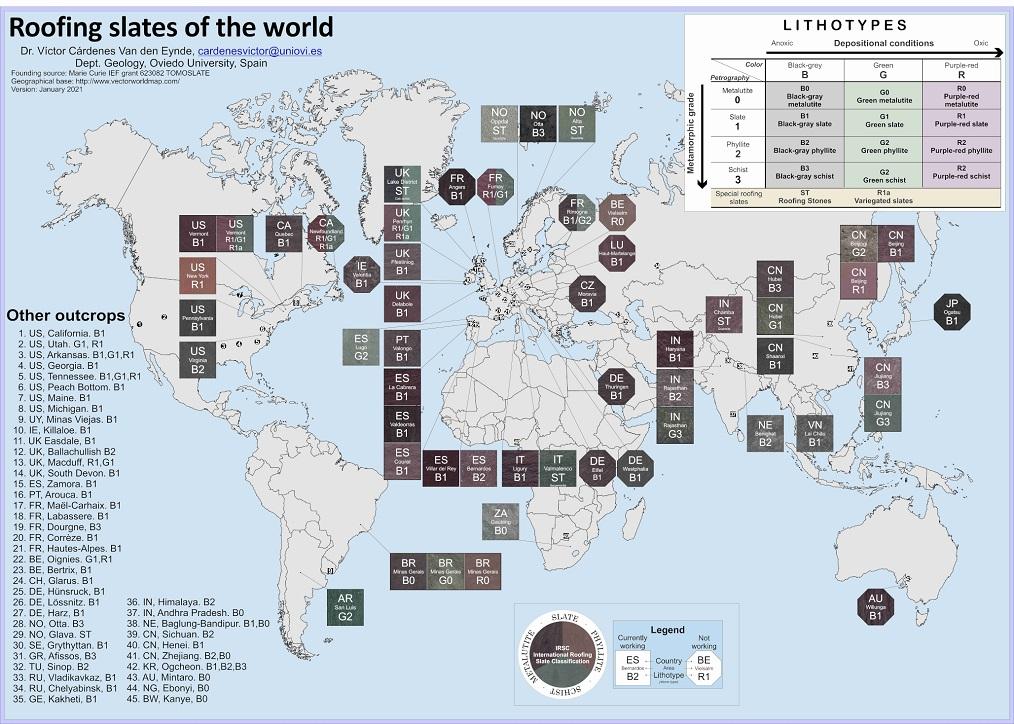 yacimientos de pizarra en el mundo