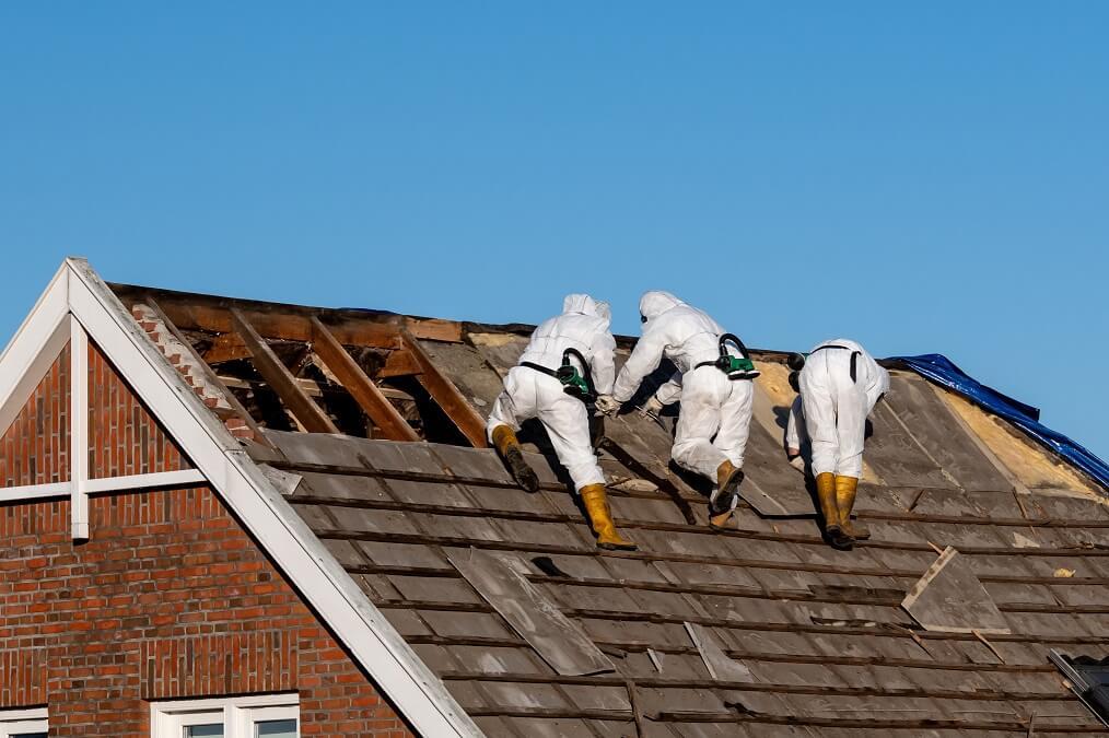 remove asbestos roof