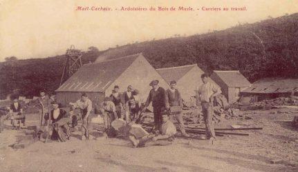ardoisieres-bretonnes carriers au travail