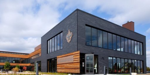 Fort Snelling BSA building designed with CUPACLAD natural slate rainscreen cladding system
