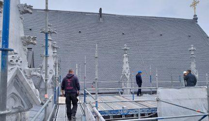 Ardoise CUPA 4 Patrimoine pour la rénovation de toiture de la Cathédrale de Liège