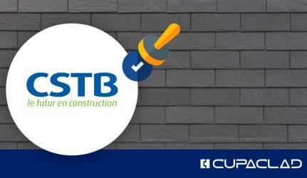 Le Centre Scientifique et Technique du Bâtiment (CSTB) certifie système de façade ventilée CUPACLAD® 101 avec ossature métallique.