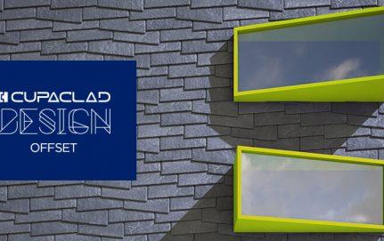 CUPACLAD Design OFFSET, design asymétrique pour façades ventilées