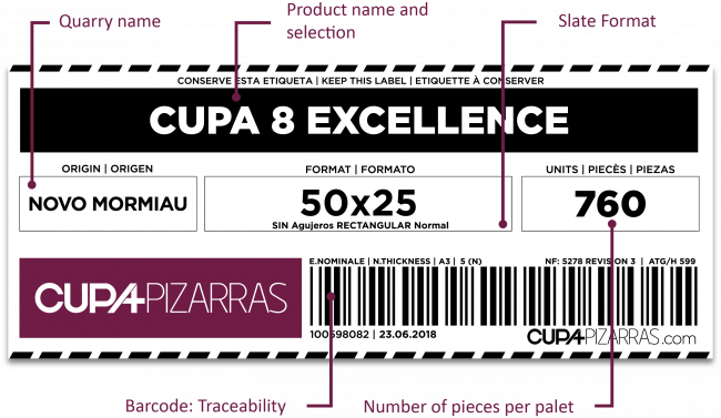 slate product label