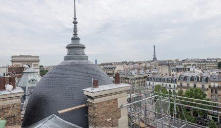 toiture en ardoise Immeuble Haussmann à Paris